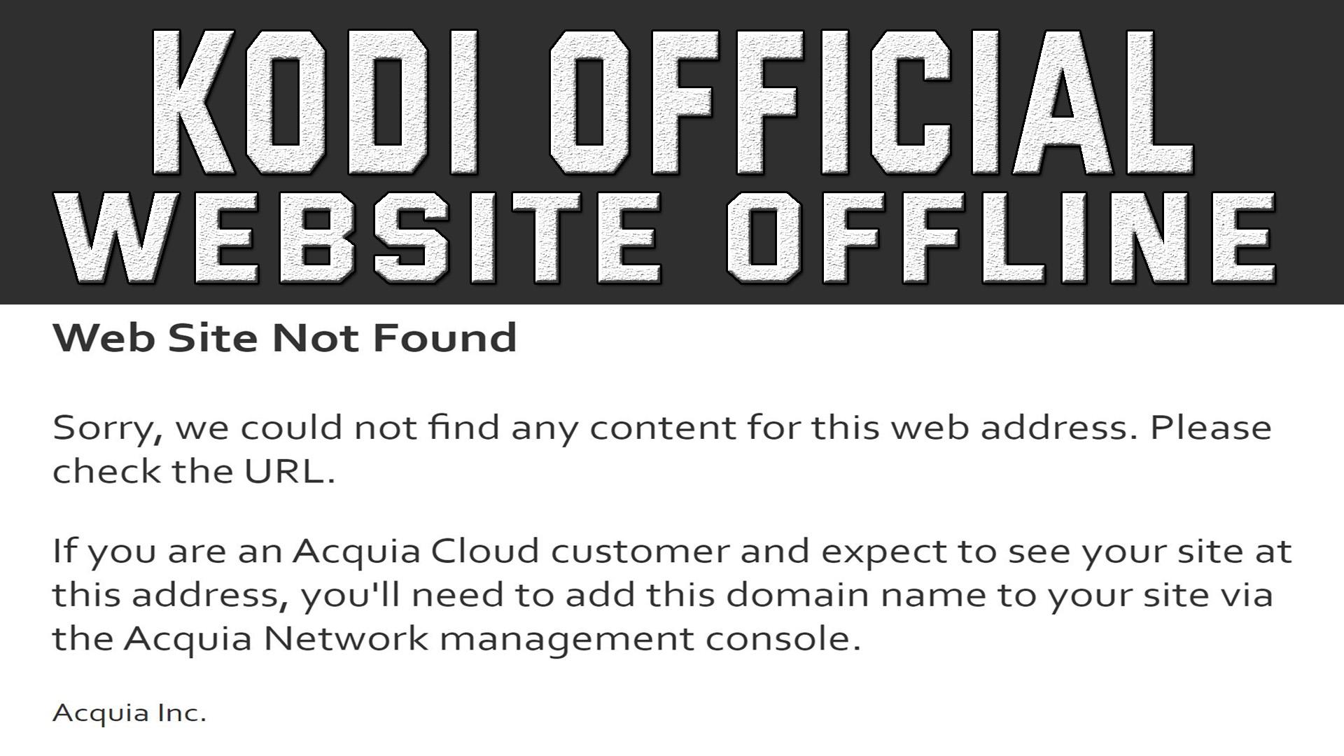 Kodi Website Gone Down
