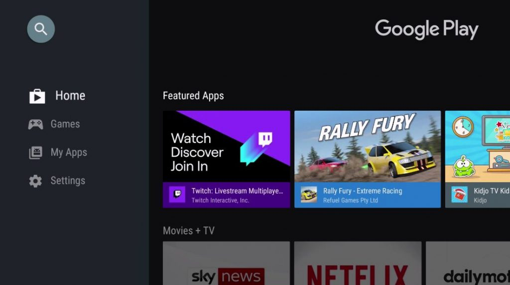 Google Store for Android TV