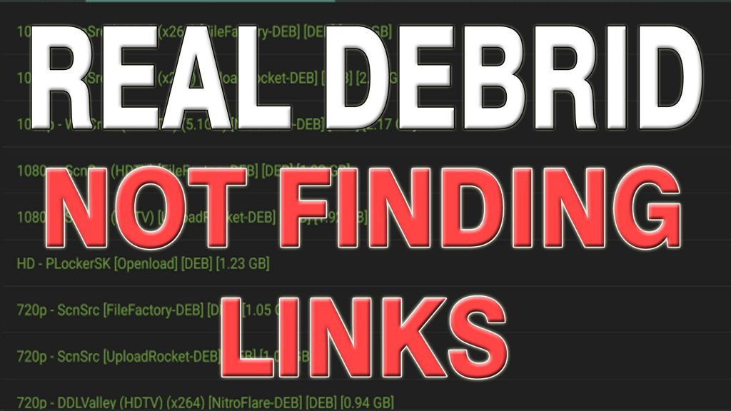 Real Debrid not finding links